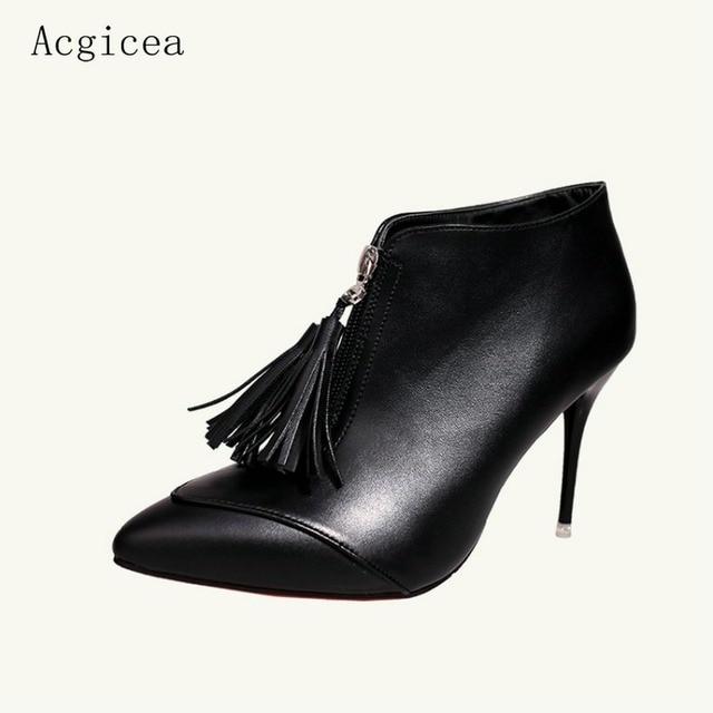 39 Mujeres Oficina 34 Tamaño Otoño Zapatos 2017 Nuevas Botines Ol 5qI6I