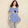 2016 nueva maternidad del verano camisetas tallas grandes a rayas de algodón mujeres de camisetas camiseta embarazada camisas de maternidad tees graphic tees mujeres