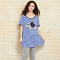 2017 new summer maternity T shirts plus size stripe Cotton women's T shirts pregnant t shirts maternity tees graphic tees women
