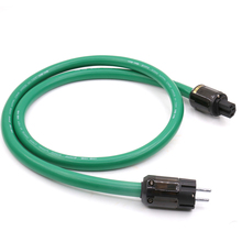 цена на Free shipping HI-End 2328 Power Line HIFI Power Cable Power Cord with EU Plug AC Cable Line 1 pcs