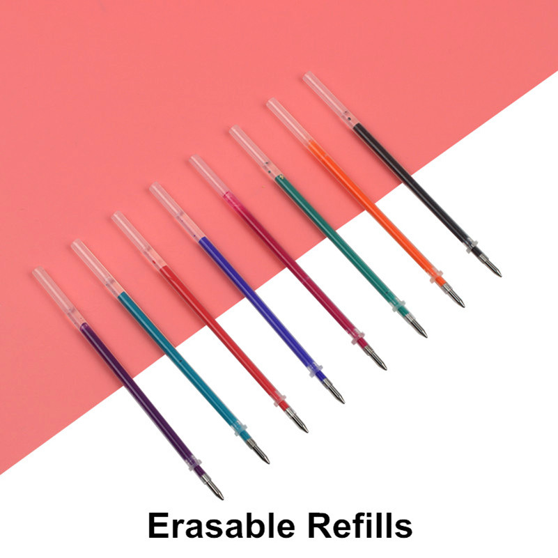 8PCS GENKKY Magic Erasable Pen Refill 0.5mm Blue Black Red Ink Gel Pen Refill For Writing Stationery Office School Supplies коврик для мышки printio цветочная цепочка