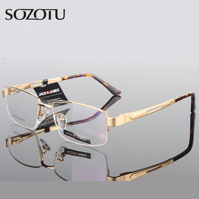 Aluminum Magnesium Optical Eyeglasses Frame Men Computer Glasses Spectacle Frame For Male Transparent Armacao de YQ181 image