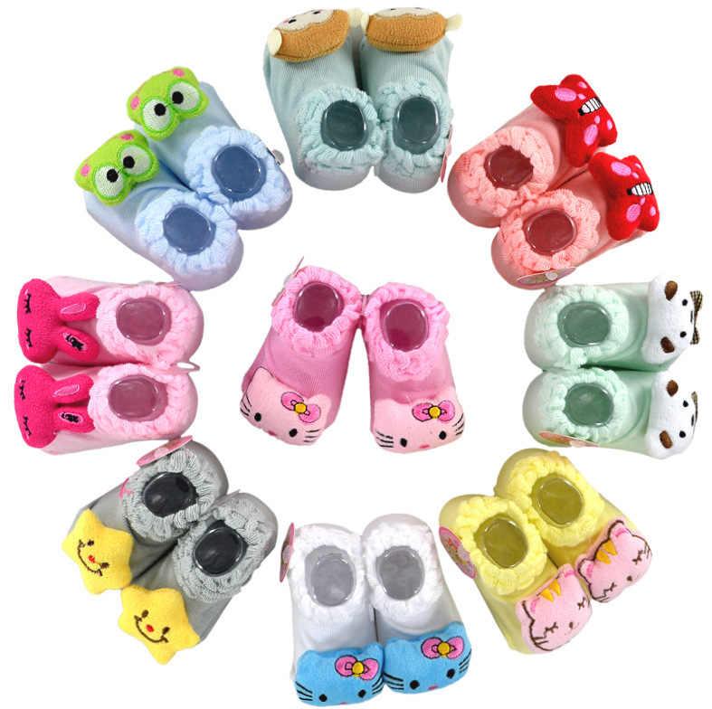 20การออกแบบถุงเท้าทารกแรกเกิด0-12monthเด็กลื่นถุงเท้าสัตว์สำหรับชายหญิงท่อที่มีคุณภาพสูง