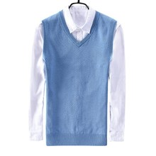 New winter mens cotton sweater vest business casual V collar 8501