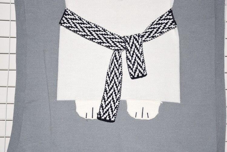 №Bebé niños ins manta tejer algodón 3D Fox Bear patrón manta ...