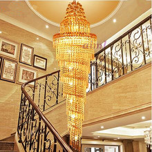 LED 31W-40W Contemporary And Contracted Luxury Villa Stair Lamp Double Entry Light Big  Pendant Lamps 220-240V @-9