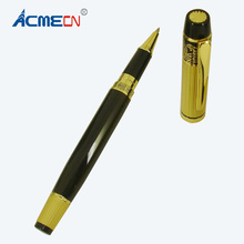 ACMECN 46g Luxury Metal Heavy Roller Pen Medium Nib Brand Carved Liquid Gel ink Pen with Gold Cap and Trim Roller Ball Pens dika wen luxury fashion beautiful golden carving mahogany paint medium nib roller ball pen new