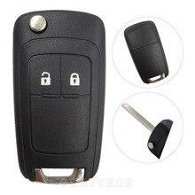 NEW Flip key Folding Remote 2 3 Buttons Car Key Fob Shell Case For opel Vauxhall astra h j insignia g vectra c mokka zafira auto
