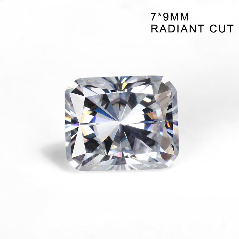 Syn Diamond DEF Color 9*7mm Radiant Cut Lab-Created VVS Moissanites Gemstone Stone for Jewelry Making image