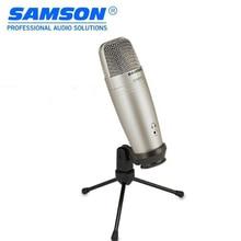 100% Original SAMSON C01U Pro USB estudio micrófono de condensador para grabar música ADR trabajo sonido Foley audio de los videos de YouTube