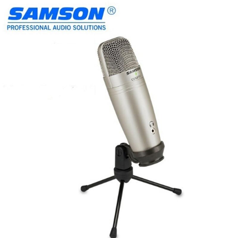 100% Original SAMSON C01U Pro USB Studio condensateur Microphone pour l'enregistrement de la musique ADR travail son Foley audio pour les vidéos YouTube