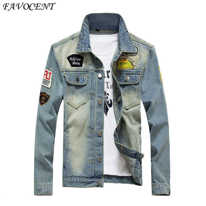 New Fashion Cowboy Jacket Men s Denim Jacket 2017 spring Autumn Coat Men s Clothing Plus