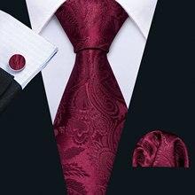 Мужской свадебный галстук, красный шелковый галстук с цветочным рисунком, набор носовой одежды Барри. Ван 8,5 см, модные дизайнерские галстуки для мужчин, вечерние галстуки, Прямая поставка, FA-5144