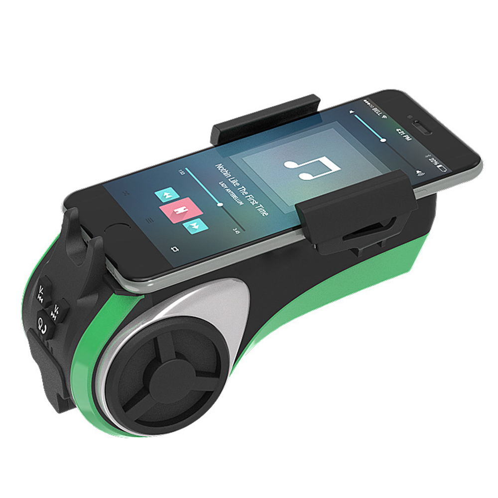Multifunction Bicycle/Motorcycle Bluetooth Audio Player with Lighting,Bell,Power Bank,MP3 Player,Bluetooth Handsfree,Card Deader