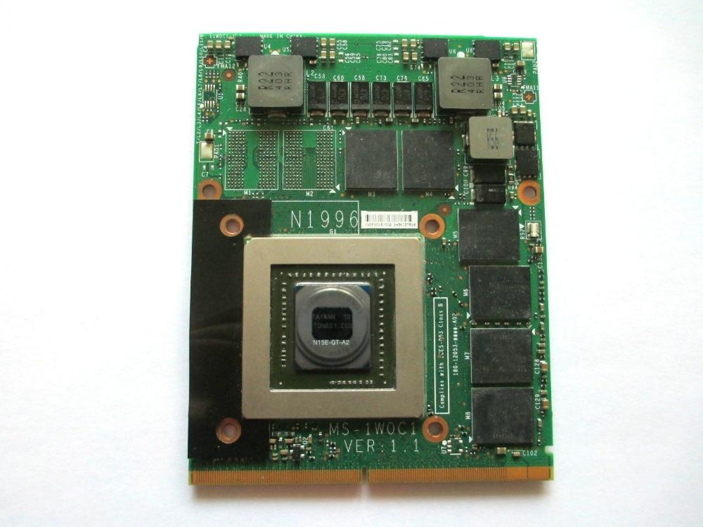GTX 870M GTX870M MS-1W0C1 3G DDR5 Video VGA CARD For 16F3 16F4 1762 1763 GT70 GT60 GX660R GT660 GX680 GT683DX GX780 GT783DX