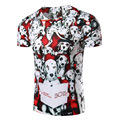 New Brand Fashion 3D Printed Color Dalmatians Men T Shirts Cotton O Neck T-shirt Men Short Sleeve Shirt Mens Clothin