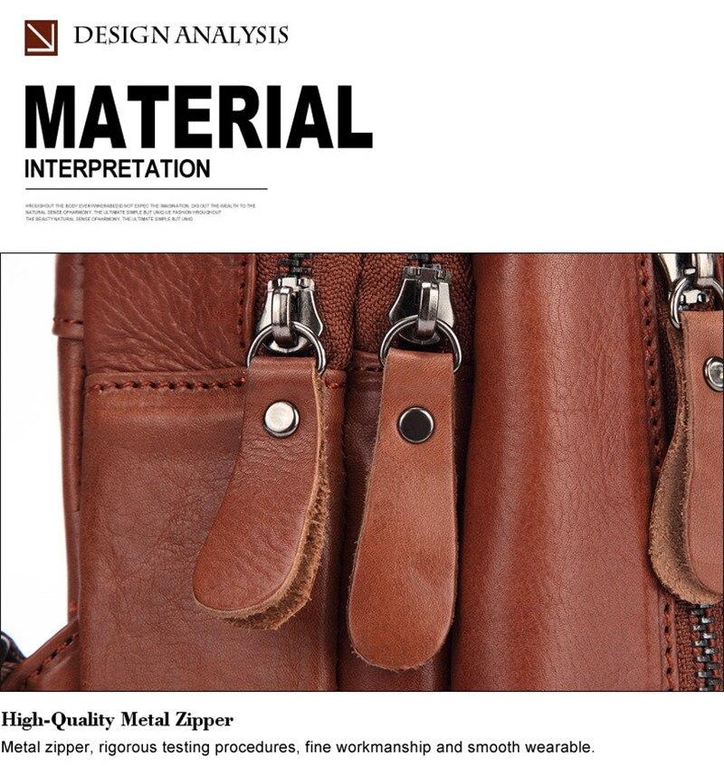 vintage zíper peito pacotes brown mensageiros sacos