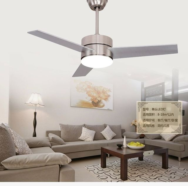 Led Ceiling Fan Light Leaf European Style Minimalism Modern 48inch