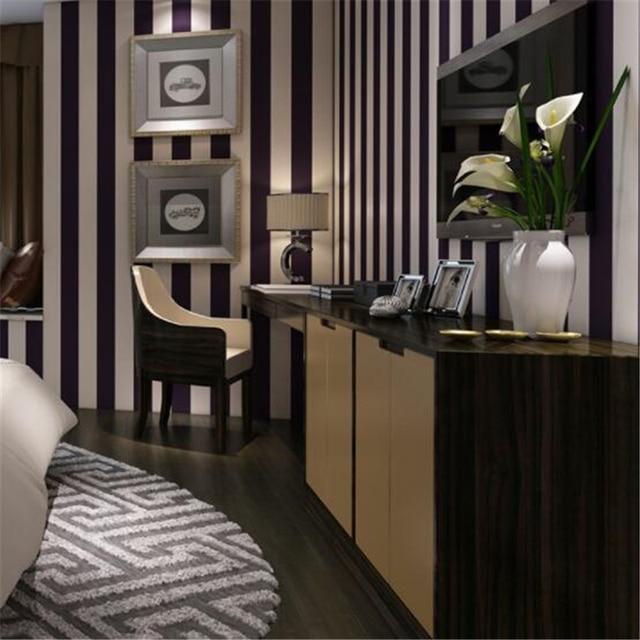 Beibehang Papier Peint Noir Et Blanc Rayures Moderne Simple Salon De  Coiffure Vêtements Restaurant Papier Peint