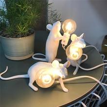 Resin Rat Table Lamp Nordic Italian Bedroom Bedside Mouse Wedding Deco Light Living Room Lighting Lamps Fixture