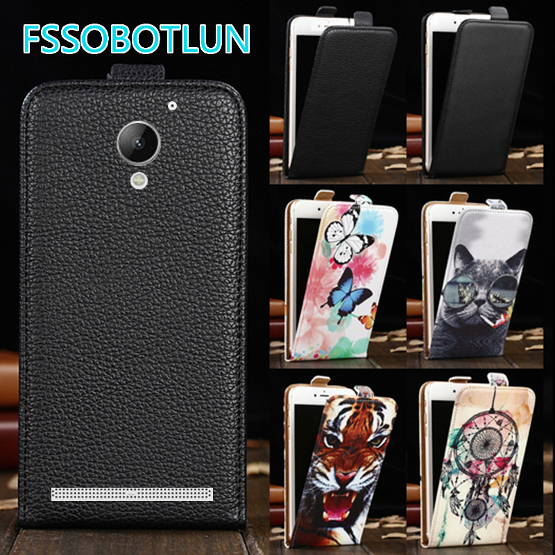 Factory direct! For <font><b>Lenovo</b></font> Vibe <font><b>C2</b></font> <font><b>K10A40</b></font> Luxury Cartoon Painting vertical <font><b>phone</b></font> cover bag flip up and down PU Leather <font><b>Case</b></font> image