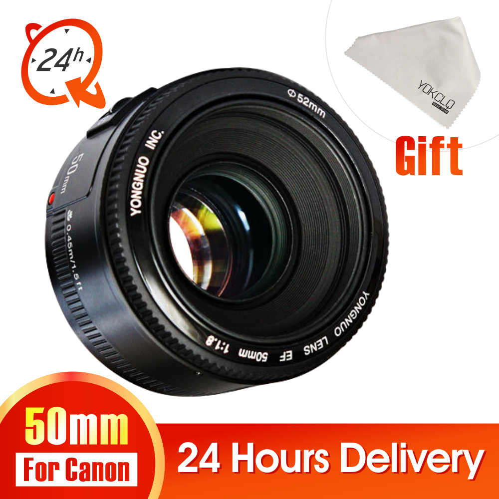 In Stock!YONGNUO YN50mm f1.8 YN EF 50mm f/1.8 AF Lens YN50 Aperture Auto Focus for Canon EOS 60D 70D 5D2 5D3 600d DSLR Camera new original lens bayonet mount ring repair for canon ef s 18 55mm f 3 5 5 6 is stm lens without cable