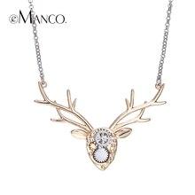 EManco marca imagen ciervos animal gargantilla collares collar de cobre mecánica diseño deer head accesorios mujeres de Primavera regalos