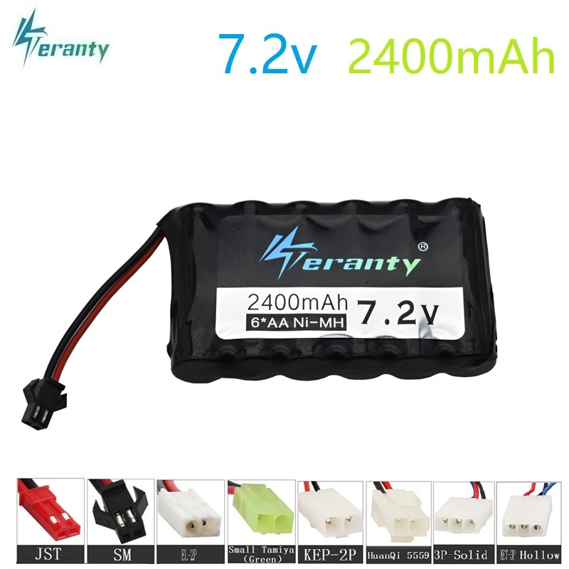 7.2v 2400mah Battery for RC Cars battery NiMH 7.2v AA NiMH battery 7.2v for Remote control electric toy tool boats Tank Toys Gun7.2v 2400mah Battery for RC Cars battery NiMH 7.2v AA NiMH battery 7.2v for Remote control electric toy tool boats Tank Toys Gun