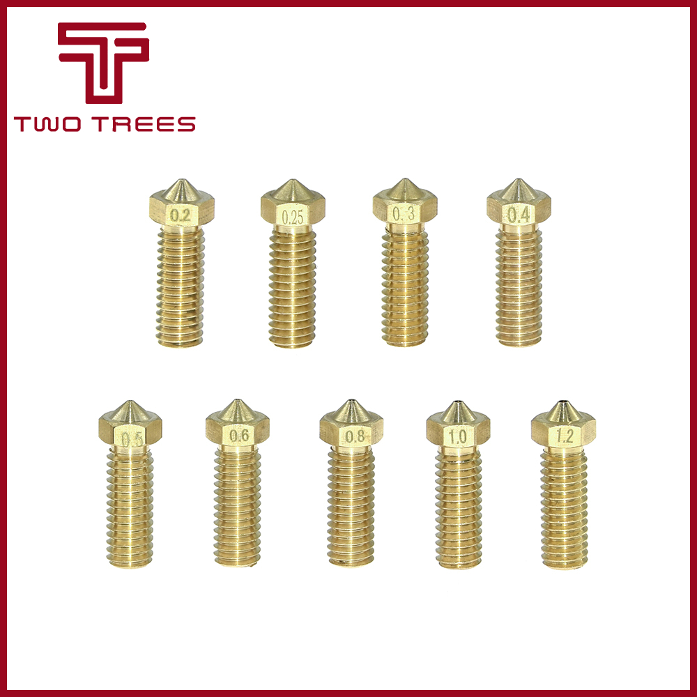 5pcs Brass Volcano All Metal Lengthen Extruder Nozzle For 1.75//0.4mm 3D Printer