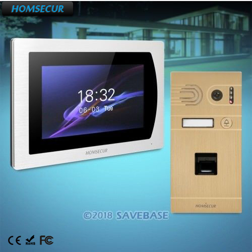 HOMSECUR 7 Wired Video Door Phone Intercom System+Intra-monitor Audio Intercom