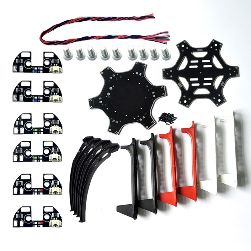 ZMR F550 Air Hexa-rotor Cadre f550 Roue Flamme Kit 550mm SK480 train d'atterrissage pour KK MK MWC RC drone
