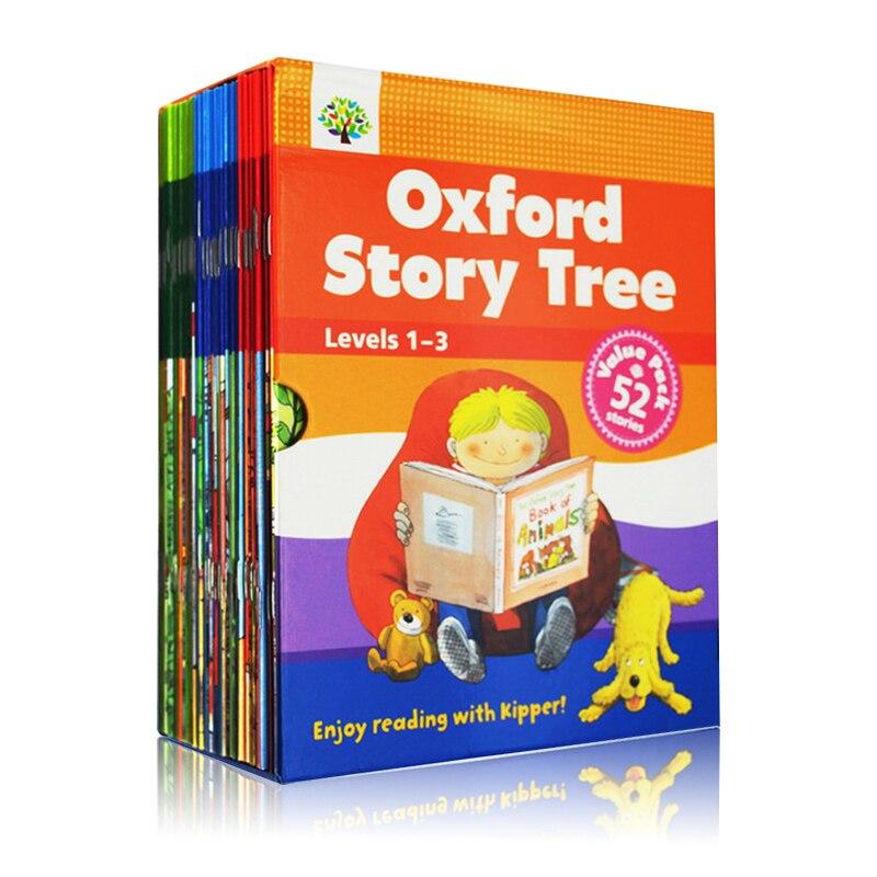 52 книги 1 3 уровня Oxford Story Tree/детская книга с рисунками на английском языке детские развивающие игрушки