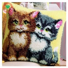 Couture crochet De Verrouillage tapis kits point de croix fil à broder kits Tapis broderie Taie D'oreiller crochet crochets trèfle point de Chat