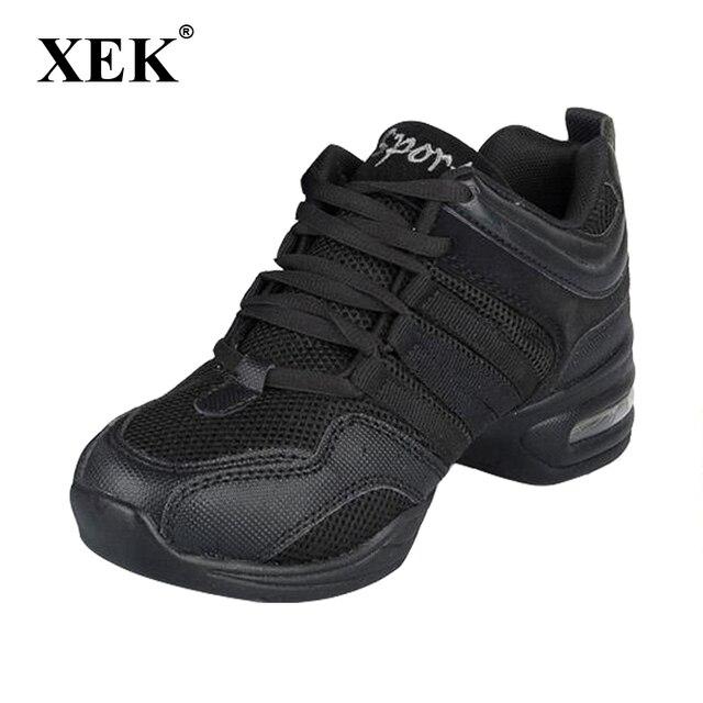 Novos 2018 Sapatos de Dança Para Meninas Sports Macia Sola Respiração Prática Sapatos Modernos Sapatos de Jazz Sapatos de Dança Sapatilhas das mulheres dom gratuito