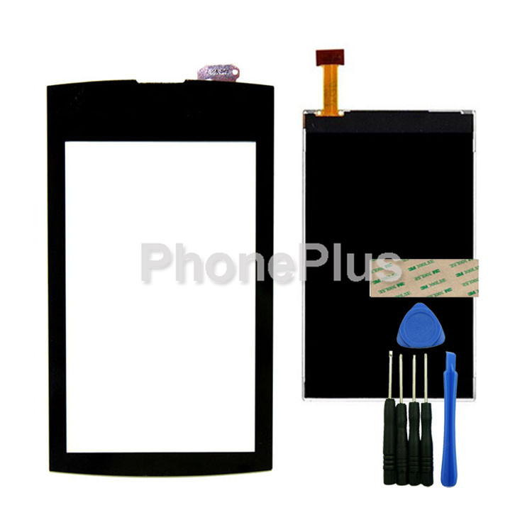 Touch Screen Glass Digitizer+LCD Screen Display Screen Adhesive Replacement Repair Part For Nokia Asha 305 new original mobile phone lcd display screen digitizer for nokia asha 2060 206 c3 01 x3 02 asha 202 2020 asha 203 2030 tools