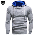 2017 Hoodies Men Sudaderas Hombre Hip Hop Mens Brand Neckline Decorative Buttons Hoodie Sweatshirt   Suit Slim Fit Men Hoody