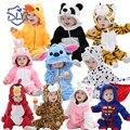 Flanela Super Macio Bonito Macacão de Bebê Primavera Outono Roupas de Bebê Animal Dos Desenhos Animados Macacão de Bebê Macacão de Bebê Menino & Menina Romers
