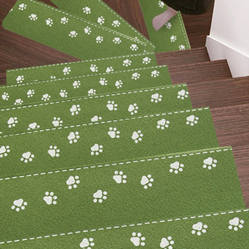 New 5Pcs Luminous Staircase Pad Footprint Pattern Rugs Non-Slip Stair Mat Self-Adhesive Floor Sticker Carpet For Entrance