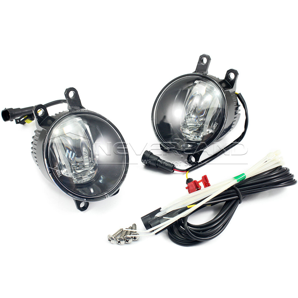 ФОТО 2pcs Super Bright Car Styling Universal LED Daytime Running Lights Fog Lamp Bulb DRL White Freeshipping D15