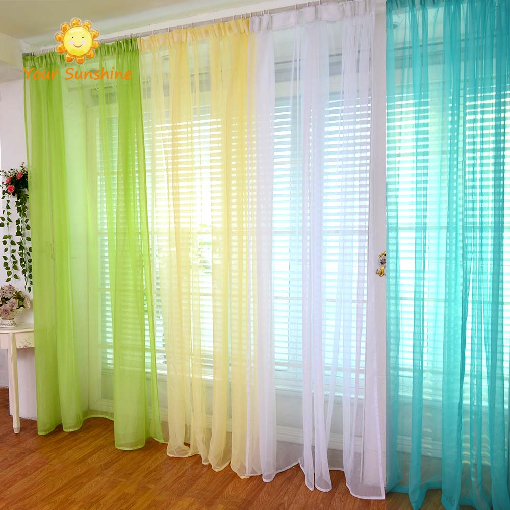 Blinds Tulle Window Curtain rideaux chambre vliegen gordijnen ...