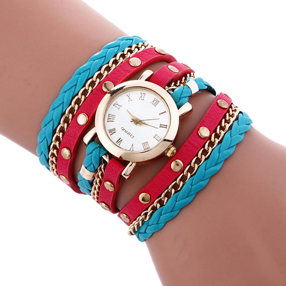 Casual bracelet watches women Wrap Around Fashion Bracelet fashion dress ladies Womans Wrist Watch relojes mujer clock for girls