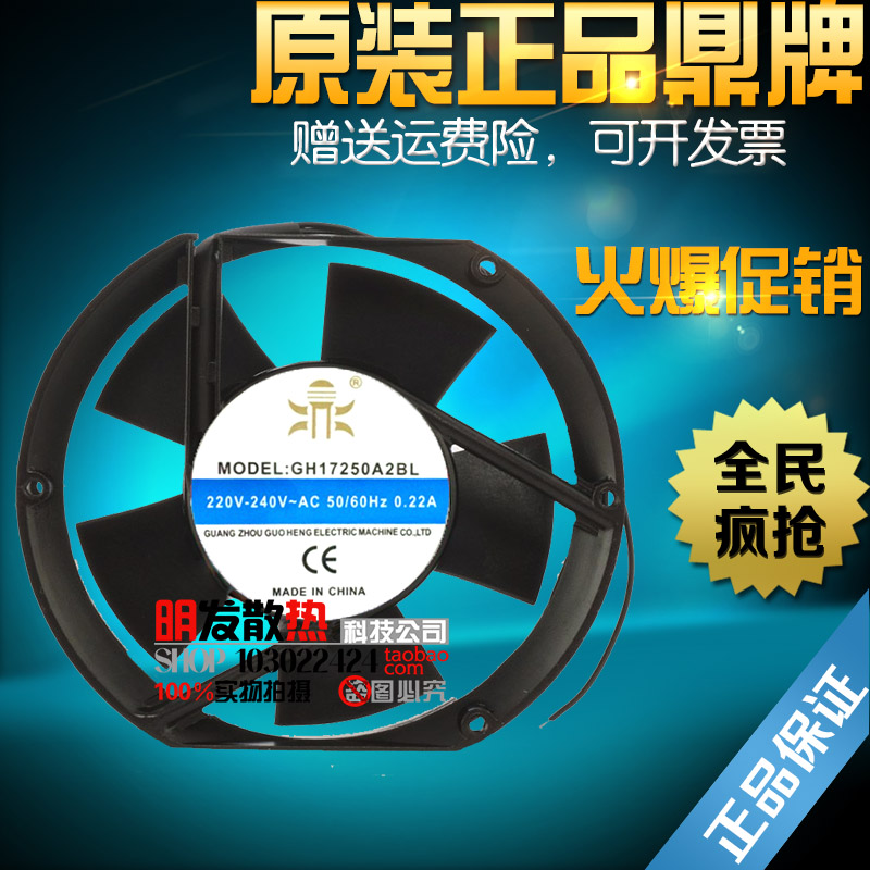 ФОТО GH17250A2BL axial flow fan /220V ball bearing DC fan CNC machine tool cooling