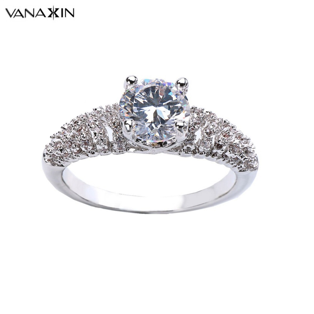 vanaxin cubic zirconia ring for women wedding jewelry. Black Bedroom Furniture Sets. Home Design Ideas