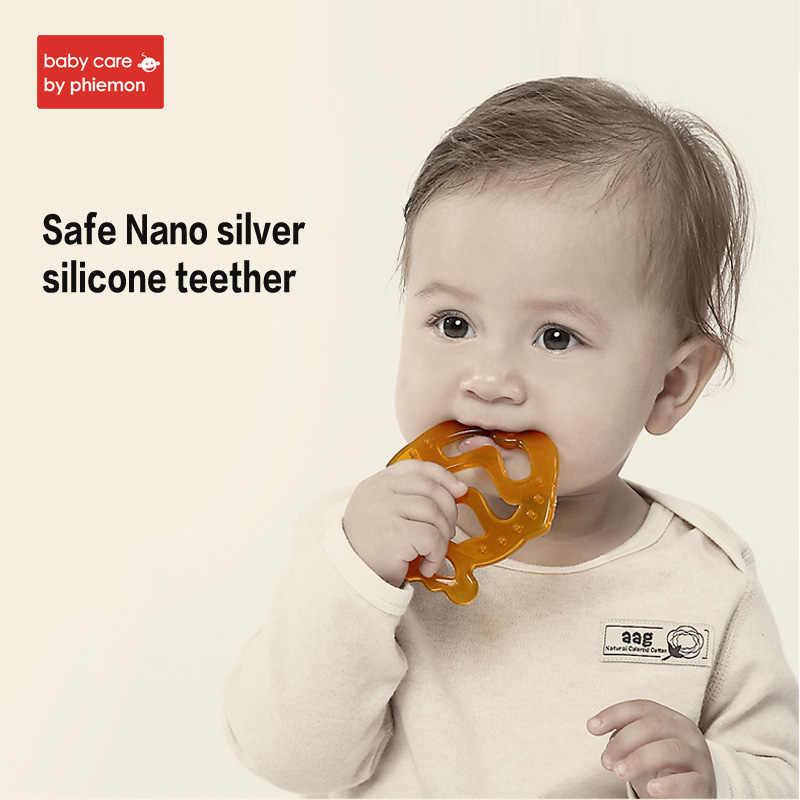 Babycare Baby Silicone Mengunyah Teether Cincin Aman BPA Free Rantai Kalung Liontin Membersihkan Gigi Mengunyah Pesona Balita Molar Mainan Hadiah