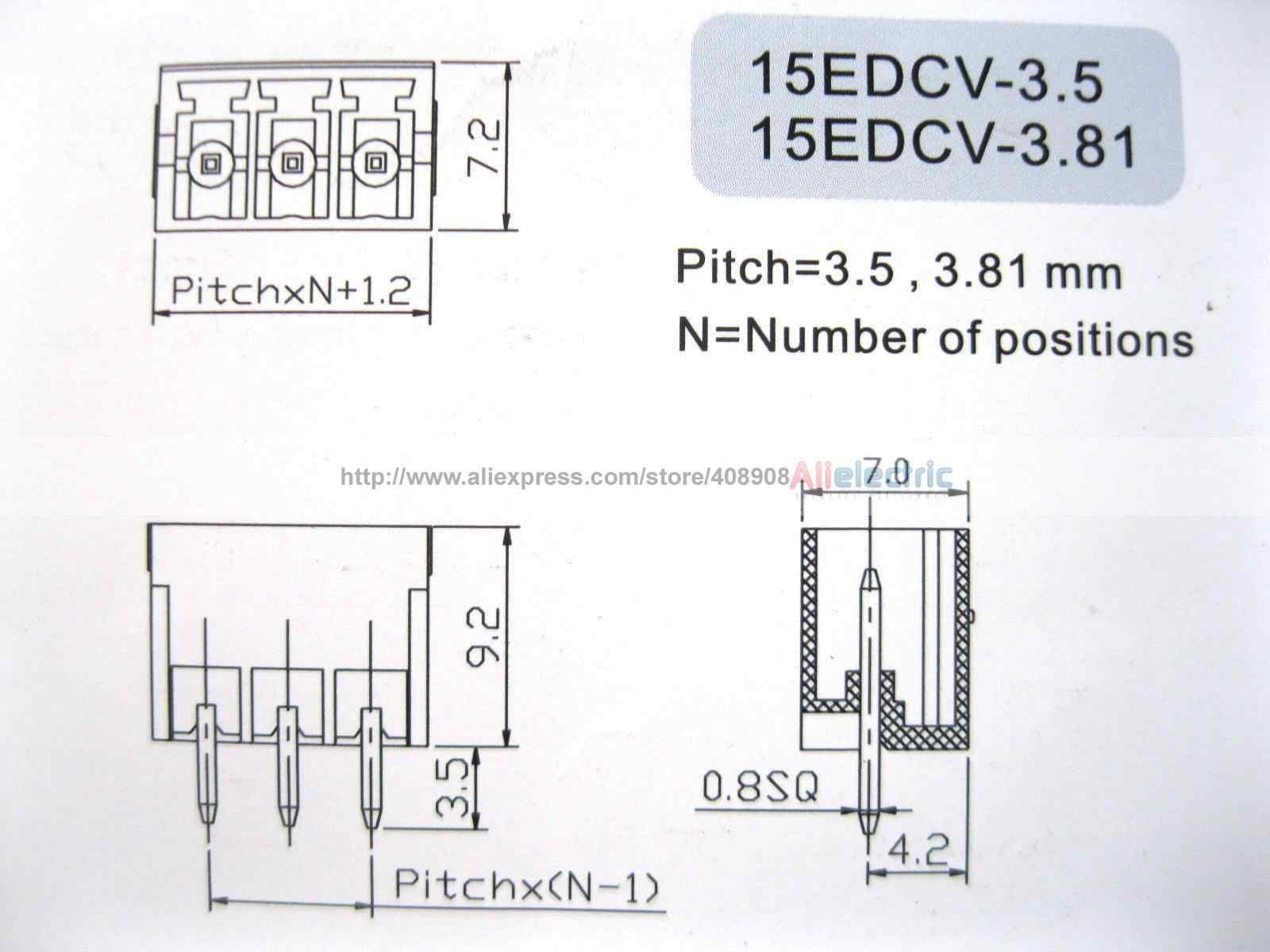 12 шт. Клеммная колодка Разъем 3.5 мм 8 Булавки путь Зеленый вставные Тип