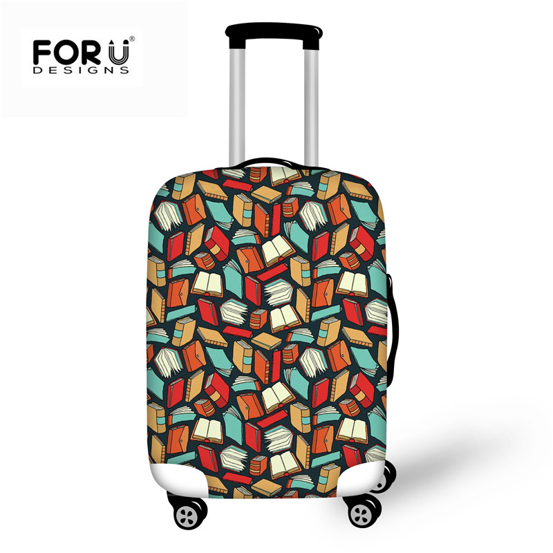 FORUDESIGNS Thick Luggage Cover Books Printing Trolley Suitcase Protect Jacket Dust Bag Case Covers Anti-Dust For 18-30 Inch New