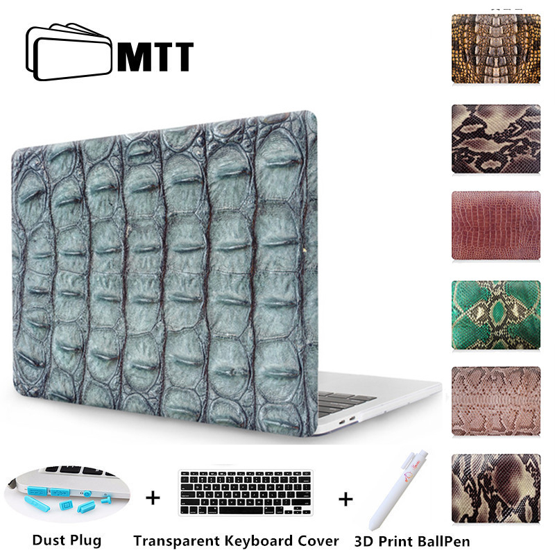 MTT New 2016 for Apple MacBook Pro 13 15 Case with Touch Bar Print Snake Skin Laptop sleeve Air Pro Retina 11 12 13.3 15 inch
