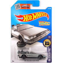 1:64 Hot Wheels Time Machine Metal Cars Back To The Future film car model Classical alloy car DeLorean DMC-12 kids Toys car gift
