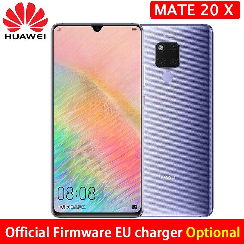HUAWEI Mate 20 X 20X Smartphone 7.2 inch 2244x1080 screen Kirin 980 octa core 6GB RAM 128GB ROM FACE ID UNLOCK 40MP CAMEAR-in Cellphones from Cellphones & Telecommunications    1