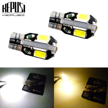цена на 2PCS Canbus T10 8smd 5630 5730 LED car Light Canbus NO OBC ERROR T10 W5W 194 SMD Led Bulb 12V white warm